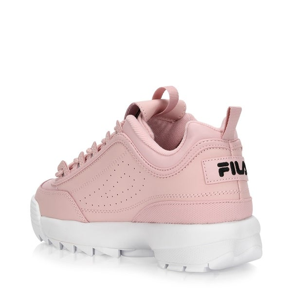 Fila Disruptor Pink Low Top Trainers | Women | Shoes
