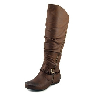 Baretraps Shania 2 Wide Calf Women  Round Toe Synthetic Brown Knee High Boot