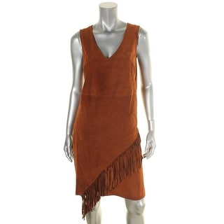 Diane Von Furstenberg Womens Jenn Casual Dress Suede Fringe