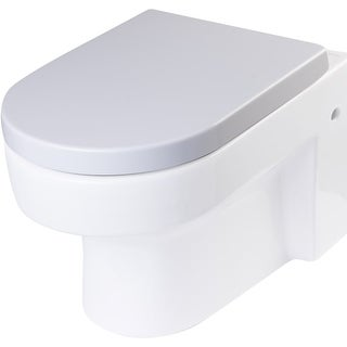 Eago R-101SEAT Elongated Closed-Front Toilet Seat with Soft Close Hinges