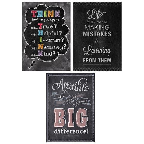 Think Positive Poster Pack Chalk