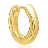 Mcs Jewelry Inc  14 KARAT YELLOW GOLD UNISEX SINGLE HOOP EARRING (DIAMETER: 13MM)