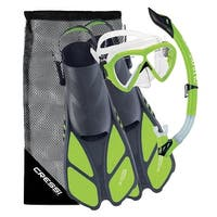 Cressi Bonete Bag Light Weight Travel Fun Snorkeling Set, Lime Green, Small / Medium