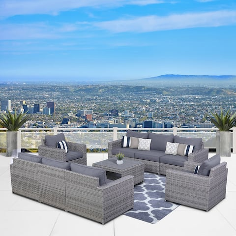 Kensington 9 Piece Sofa Seating Group with Cushions