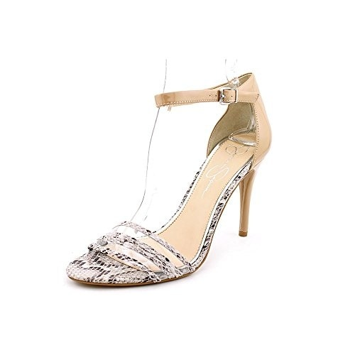 Jessica Simpson Womens Jessies Leather Open Toe Casual Ankle Strap Sandals