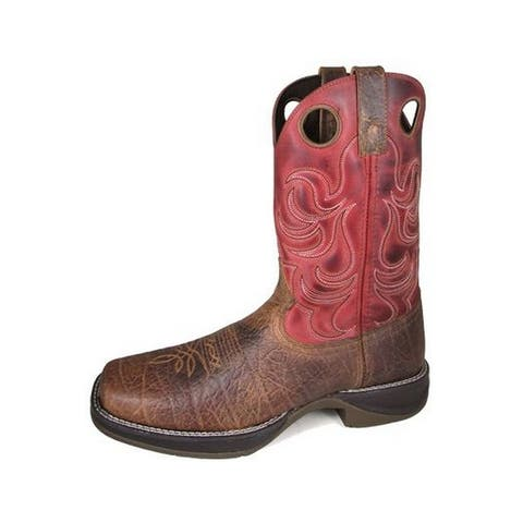 Smoky Mountain Western Boots Mens Benton Leather Square Toe Brown