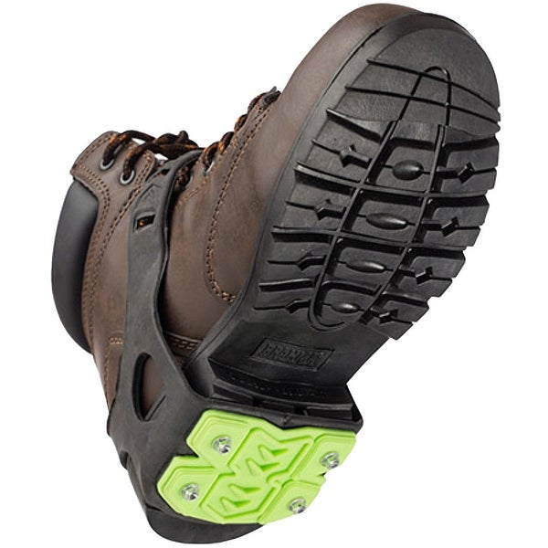 STABILicers Heel Removable Snow and Ice Traction Job Safety Cleats - Black/Green