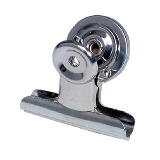 School Smart Rust Resistant Magnetic Clip, 1-1/4 in, Steel, Nickel Plated, Pack of 24