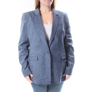MICHAEL KORS $175 Womens New 1270 Navy Blazer Casual Jacket 16 B+B