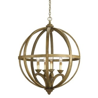 "Currey and Company 9015 Axel Orb 41""H 4 Light Chandelier with Optional Customiza"