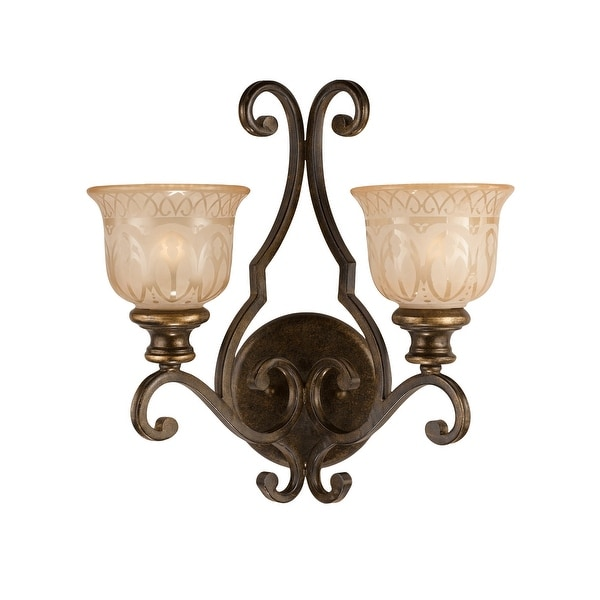 Norwalk 1 Light Clear Crystal Bronze Sconce 6 5 W X 14 H X 8 5 D On Sale Overstock 7182952