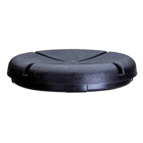 CLC 1140 Plastic Bucket Seat Lid Cushion, 3.5 To 5 Gallon, Black