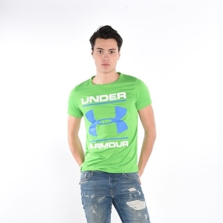 Men'S T-Shirt In Green With Blue Print - Green/Blue