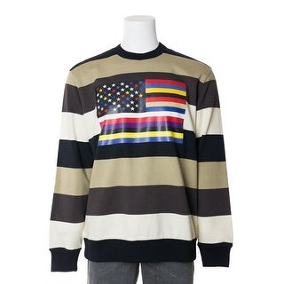 Givenchy Mens Striped Flag Pure Cotton Sweatshirt (3 options available)