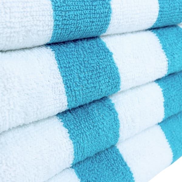 24 Towels 30x70 Cabana Stripe 100/% Cotton Beach Towels
