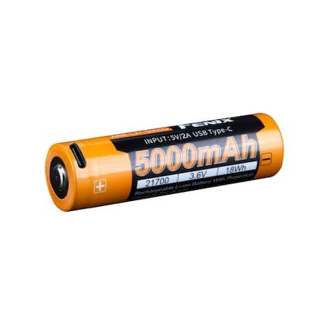 Fenix ARB-L21-5000U 5000mAh USB C Rechargeable 21700 Battery