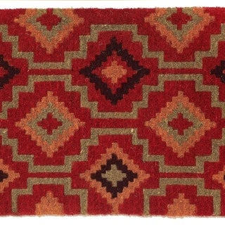 Fab Habitat - Lhasa Kilim Doormat Size 18 x 30 inches, Extra Thick Handwoven Durable