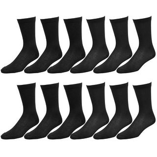 12-Pack Men's Cotton Dress Socks Casual Crew Fashion Multi Colors