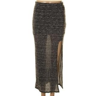 Material Girl Womens Knit Elastic Waist Maxi Skirt - XS