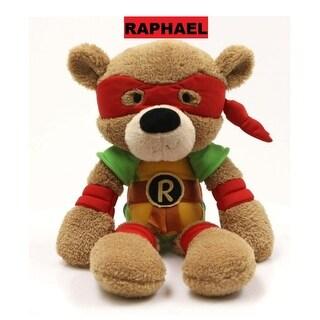 """14"""" Teenage Mutant Ninja Turtles Raphael Fuzzy Bear Stuffed Animal Toy - Brown"""