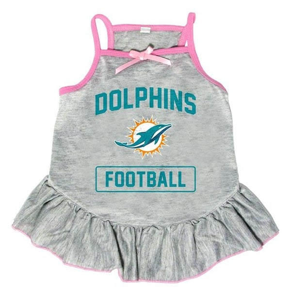more photos 5ddab 91436 Little Earth NFL Pet Dress Grey Type, Miami Dolphins - XSmall