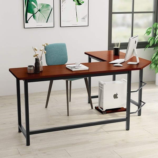 pretty nice 3ffe0 d2ae1 Shop Tribesigns Modern L-Shaped Desk Corner Computer Desk ...