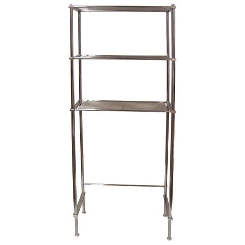"""Organize It All 16981W Metro 64"""" Tall Over The Toilet Wire Shelving - - Chrome"""