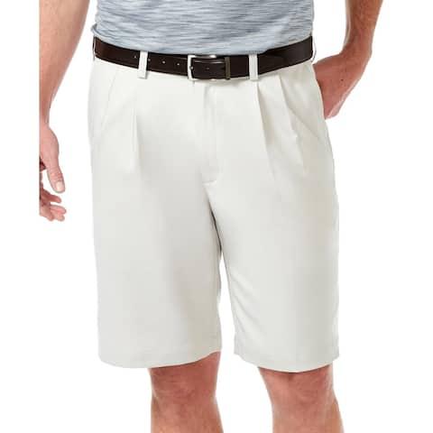 Haggar Mens Cool 18 Pro Dress Shorts Woven Pleated