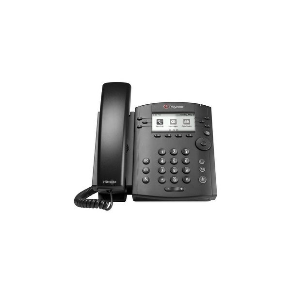 Polycom 2200-48300-001 VVX 301 Corded Business Media Phone System 6 Line PoE-AC Adapter Included