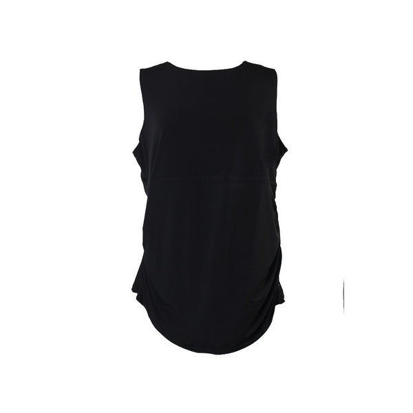 4299e4a6d4f Shop Calvin Klein Plus Size Black Fit Solutions Mixed-Media Tank Top ...