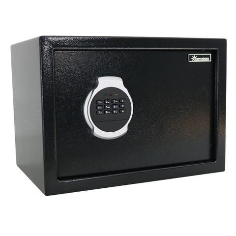 "Sunnydaze Steel Digital Home Security Safe - Removable Shelf - 0.81 Cubic Feet - 14""W x 10""D x 10""H"