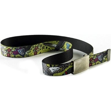 Buckle-Down Web Belt - Truth and Justice Green
