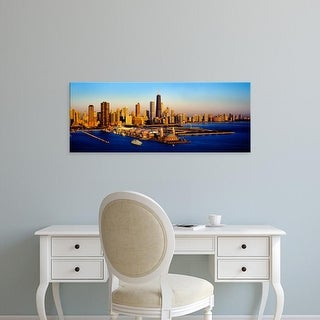 Easy Art Prints Panoramic Image 'Navy Pier at sunrise, Lake Michigan, Chicago, Cook County, Illinois' Canvas Art
