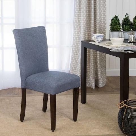 HomePop Parson Chair - Midnight Blue - Single