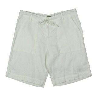 4Our Dreamers Womens Capri Pants Solid Linen