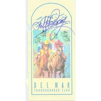 Signed Pincay Laffit Del Mar Thoroughbred Club Program with only the cover Has a tear in the middle