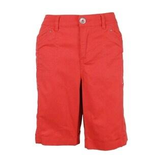Style & Co. Women's Cuffed Cargo Shorts - deepsea coral