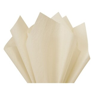 """Pack Of 480, Solid Oatmeal Tissue Paper 15 X 20"""" Sheet Half Ream Made From 100% Post Industrial Recycled Fibers Made In Usa"""