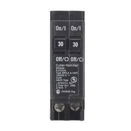Eaton BR3030 Tandem Circuit Breaker W/O Rejection Clip, 30 Amp