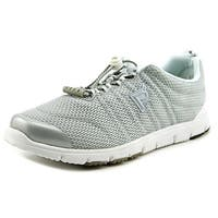 Propet Travel Walker II Elite Women Silver Walking Shoes