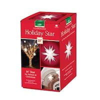 Keystone 50000LED Holiday Porch Star Christmas Decoration, Clear