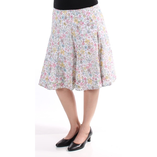 Shop American Living Womens Pink Floral Knee Length Fit