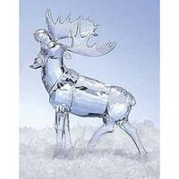 "8"" Icy Crystal Majestic Moose Decorative Christmas Table Top Figure"