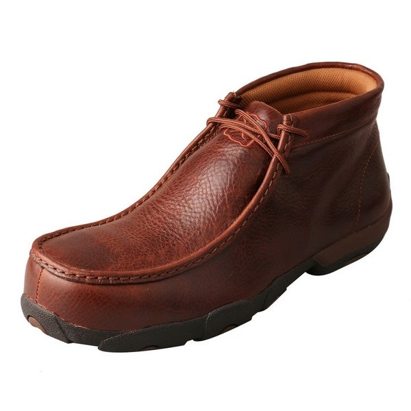 Twisted X Casual Shoes Mens CT Rubber Driving Mocs Cognac