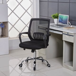 VECELO Swivel Black Mesh /Office /Task Chair, Adjustable Height,Lumbar Support|https://ak1.ostkcdn.com/images/products/is/images/direct/29e0904915c07bf34a1beeb441a3e03787e42f8d/VECELO-Ergonomically-Adjustable-Office-Desk-Chair-%2C-Mid-Back-Mesh-Chair.jpg?_ostk_perf_=percv&impolicy=medium