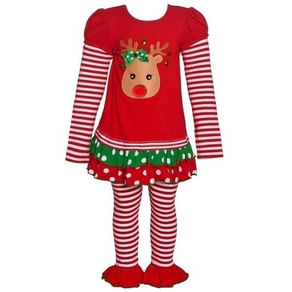 OSHKOSH B/'GOSH® Girls/' 8 Reindeer 2-Piece Cotton Pajama Set NWT
