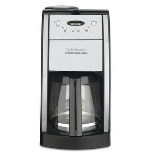 Cuisinart DGB-550BK 12 Cup Automatic Coffeemaker Grind, Stainless & Black
