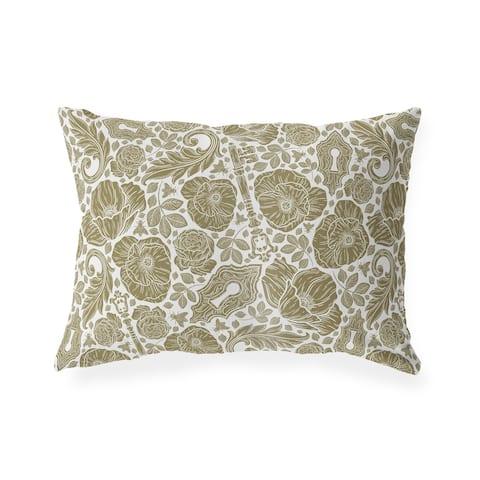 ELM BROWN Lumbar Pillow By Kavka Designs