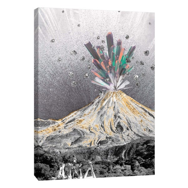 """PTM Images 9-105833 PTM Canvas Collection 10"""" x 8"""" - """"Crystal Explosion"""" Giclee Forests and Mountains Art Print on Canvas"""