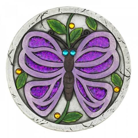 Giant Purple Butterfly Garden Stone